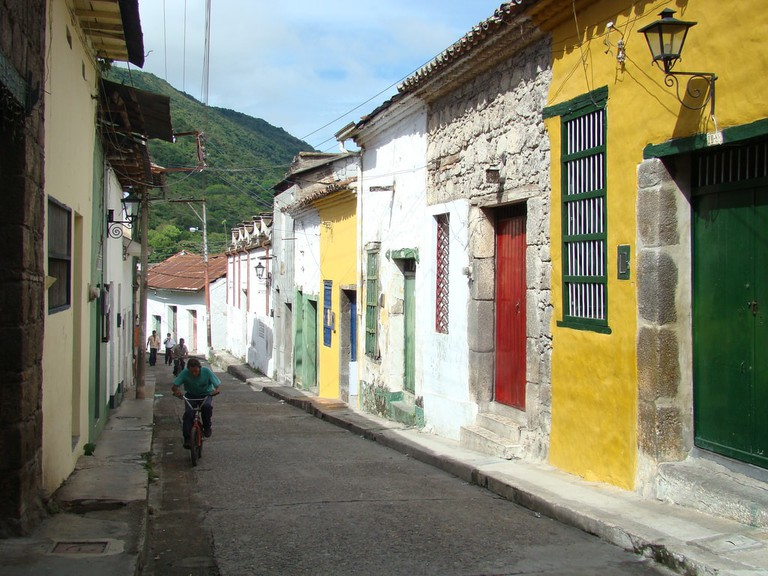 The colonial streets of Honda
