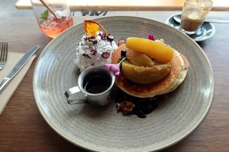 Vegan pancakes at Bespoke Kitchen, Queenstown