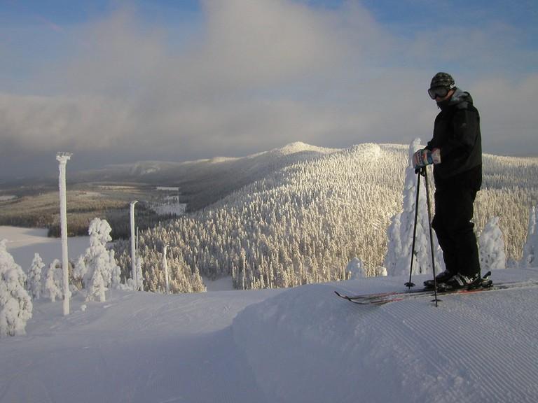 Skiing in Ruka
