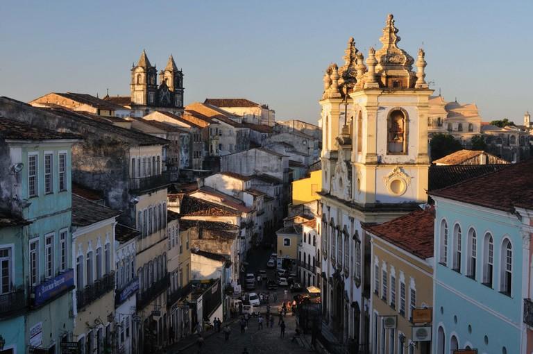 The city centre of Salvador