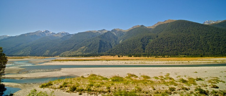 Haast Pass landscape on the West Coast side
