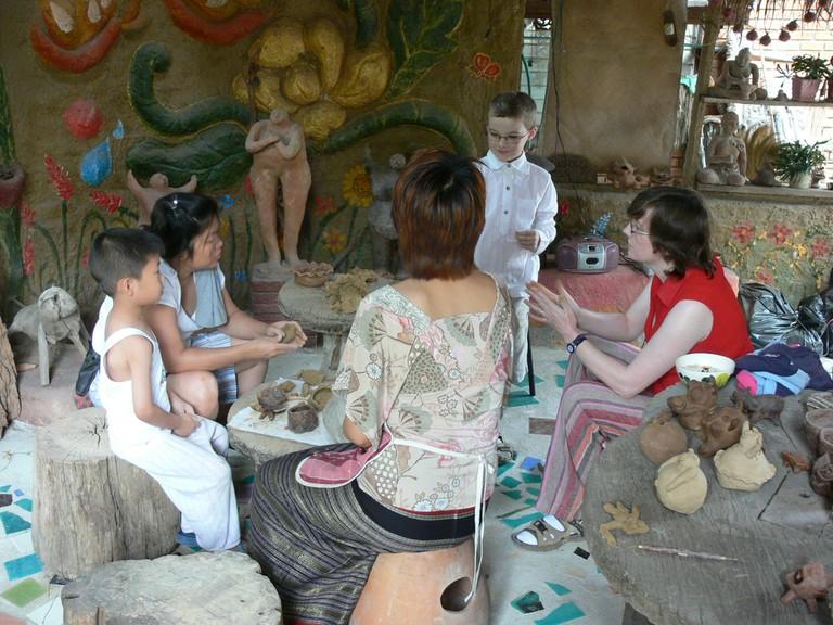 A pottery workshop