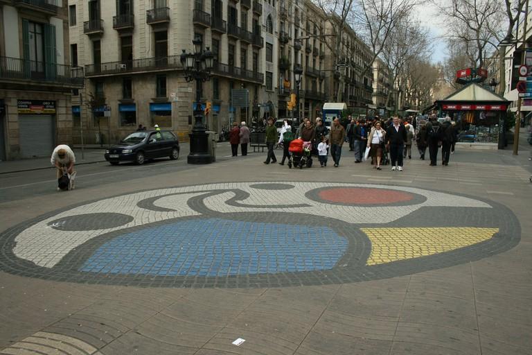 Miró's mosaic on Pla de l'Os