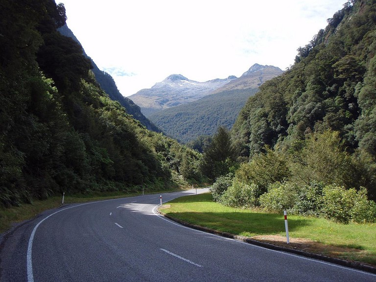Approaching the Haast Pass