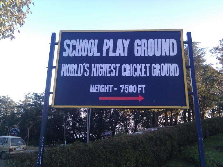 Himachal Pradesh has the world's highest cricket ground