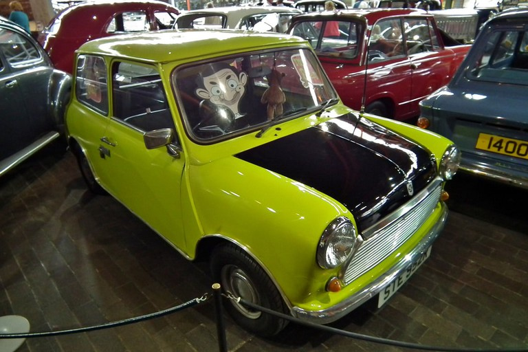 Mr. Bean and his beloved Mini