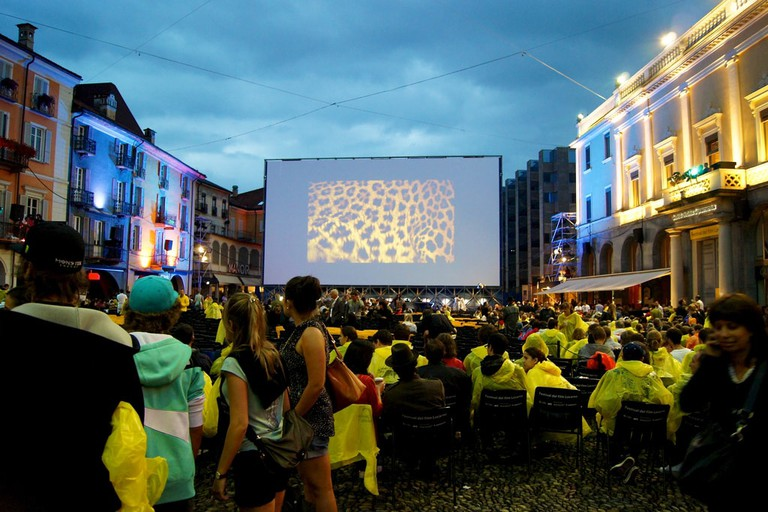With or without the sun, crowds gather by the thousands in Locarno's Piazza Grande