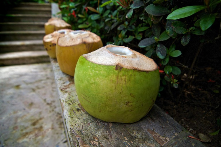 A lovely bunch of coconuts.