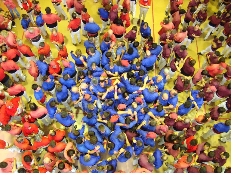Castellers, a Catalan tradition