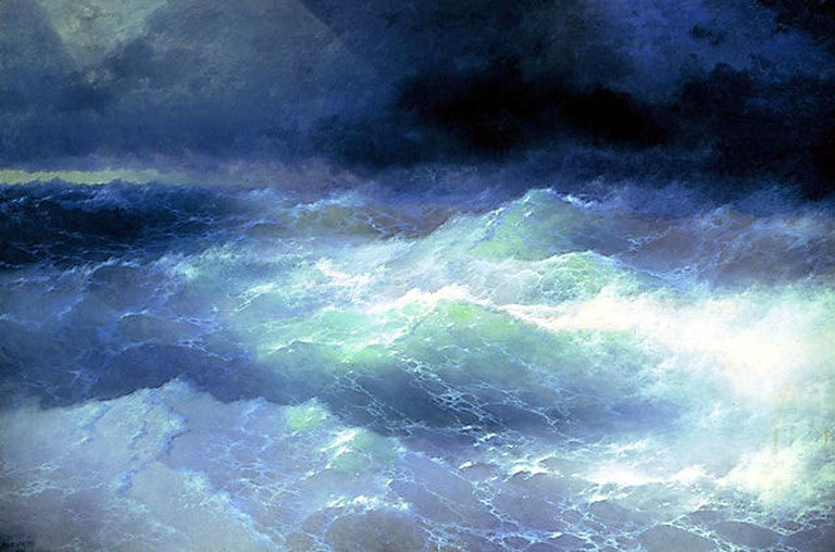 'Among the Waves' by Ivan Aivazovsky I