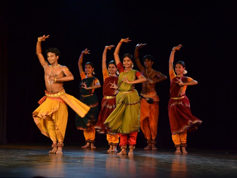 A Bharatanatyam recital at the Kalakshetra Foundation in Chennai's Besant Nagar