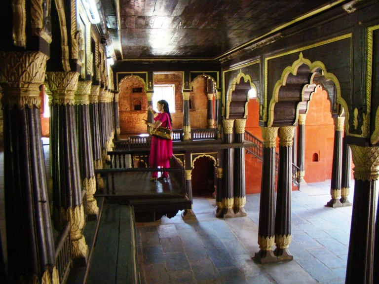 Tipu Sultan's Summer Palace is a beautiful architectural marvel in Bangalore city