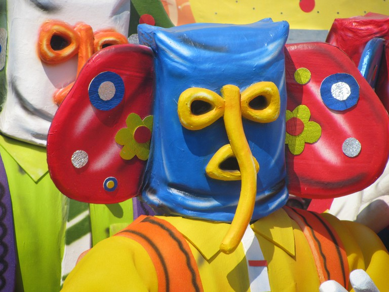 Marimonda mask at Barranquilla Carnival
