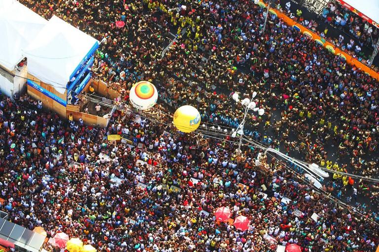 Aerial shot of Bahia's huge street parties