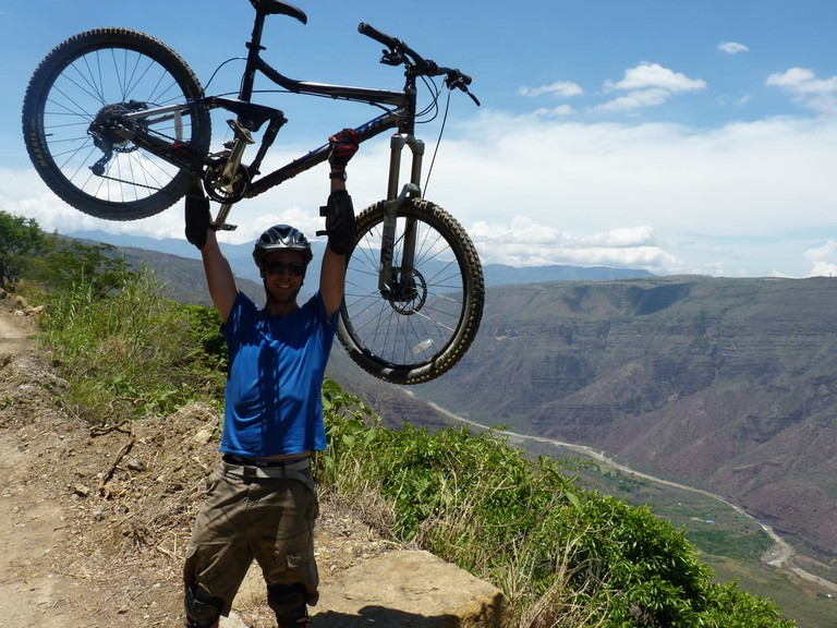 Mountain biking in the Chicamocha Canyon, Colombia