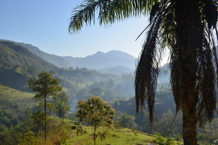 The view from Zephyr Lodge, Guatemala