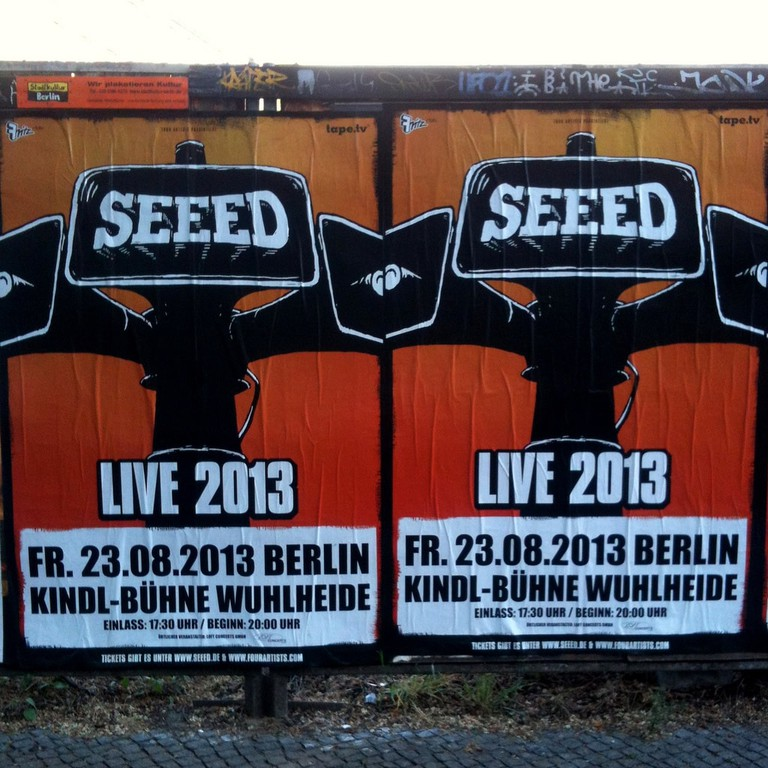 Seeed Concert poster from 2013