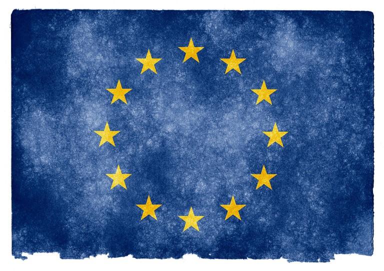 Textured flag of the European Union