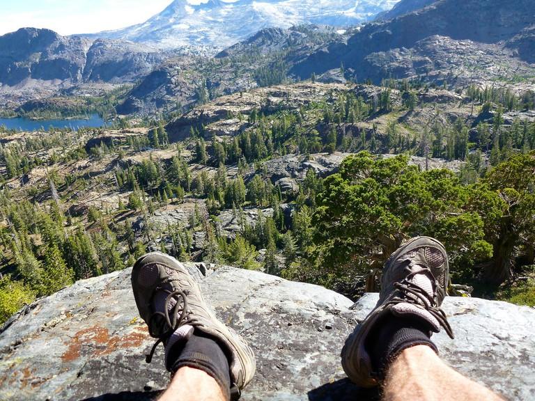 Resting at Desolation Wilderness