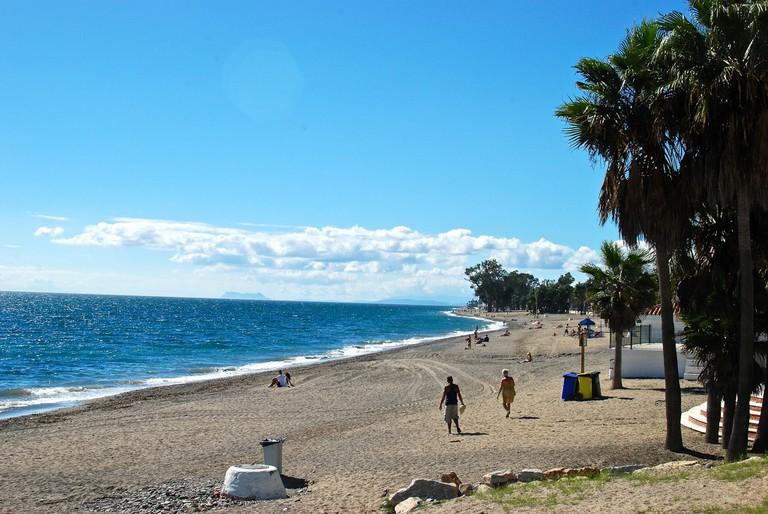 One of Marbella's beautiful beaches