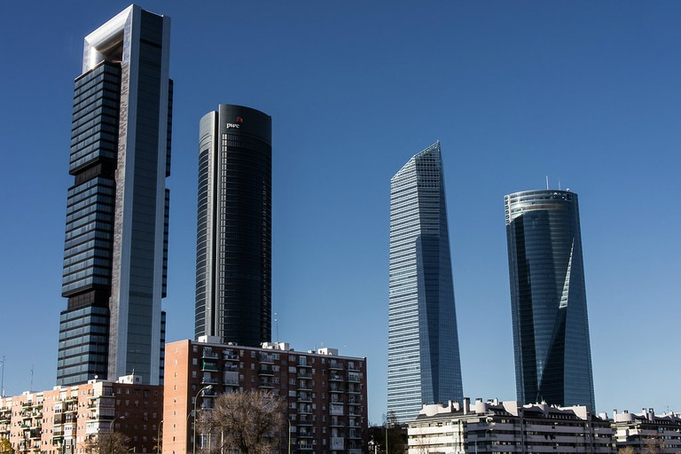 Madrid's Four Towers skyscrapers