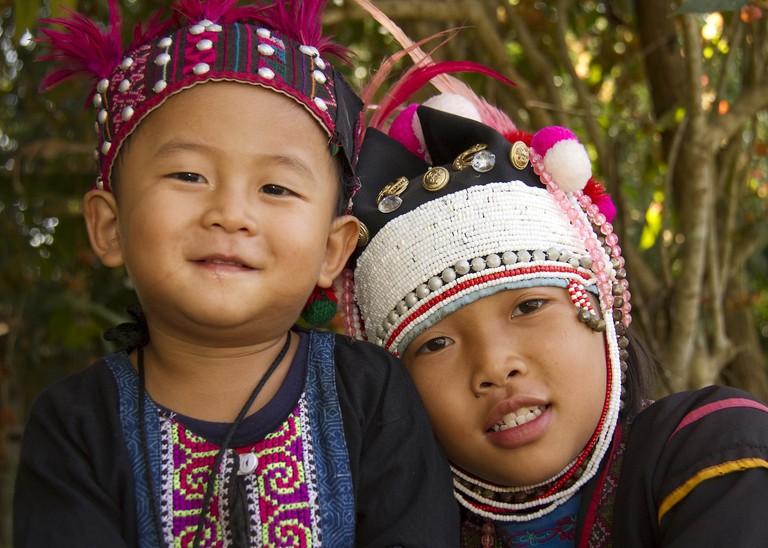 Beautiful hill tribe children