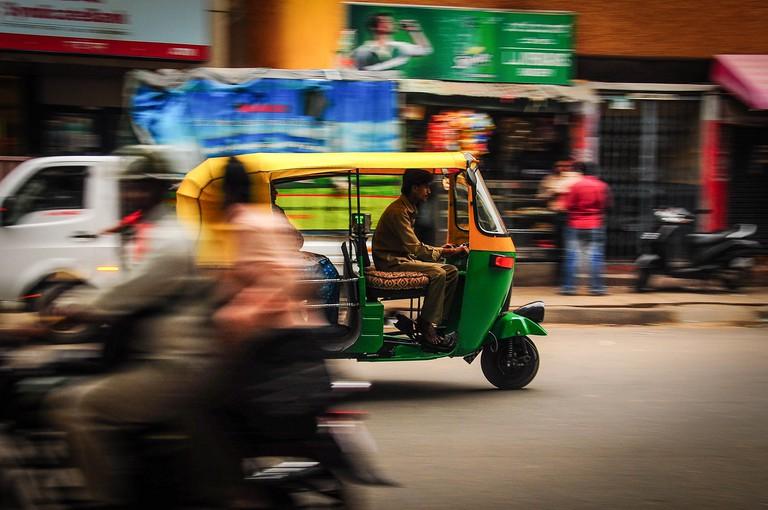 A ride through Bangalore in a tuk tuk will be unique and fun