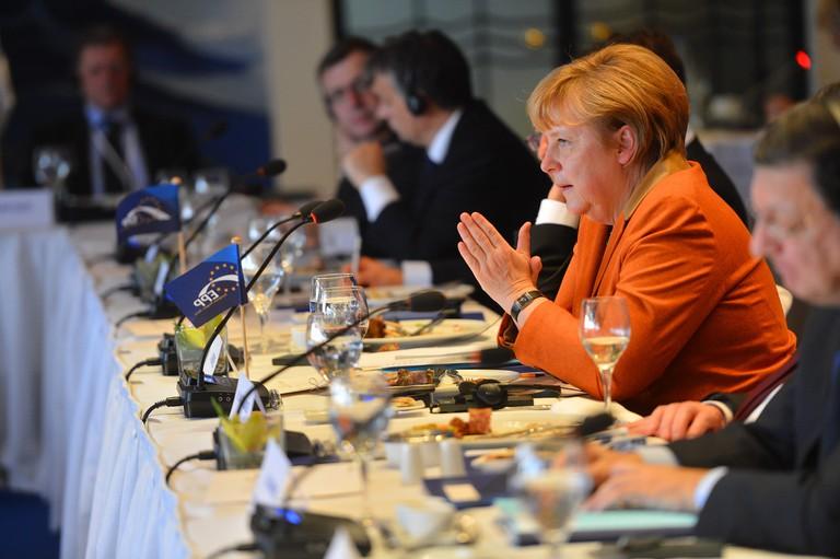 Angela Merkel in talks