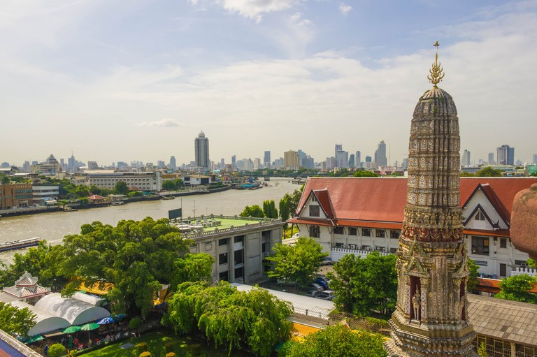 The Chao Phraya river featured in both the pre and post-Chakri capitals