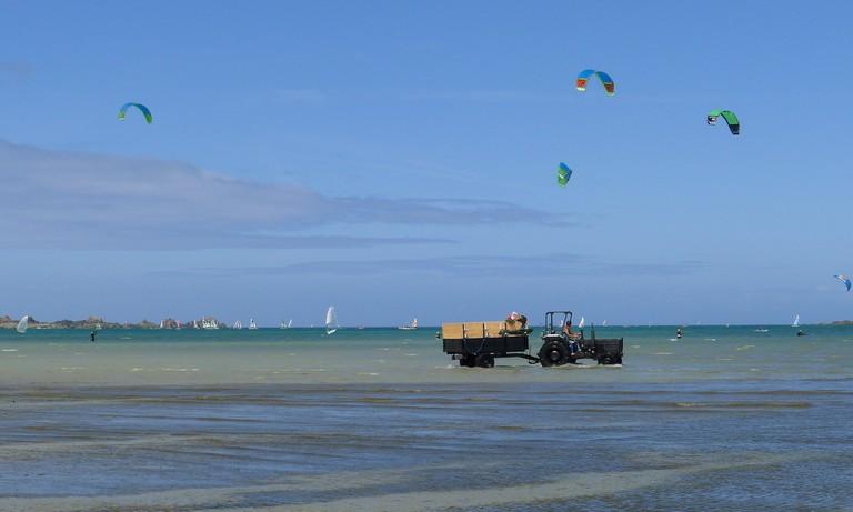 On the beach, Saint Jacut