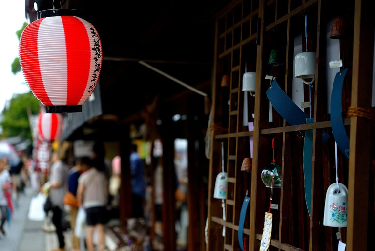 Lanterns and chimes at Ise Grand Shrine