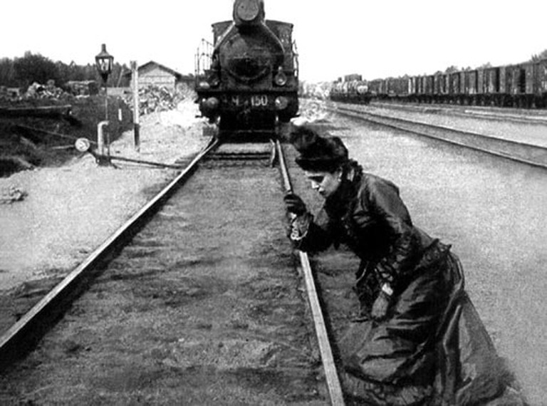 "Scene from the 1914 movie ""Anna Karenina"""