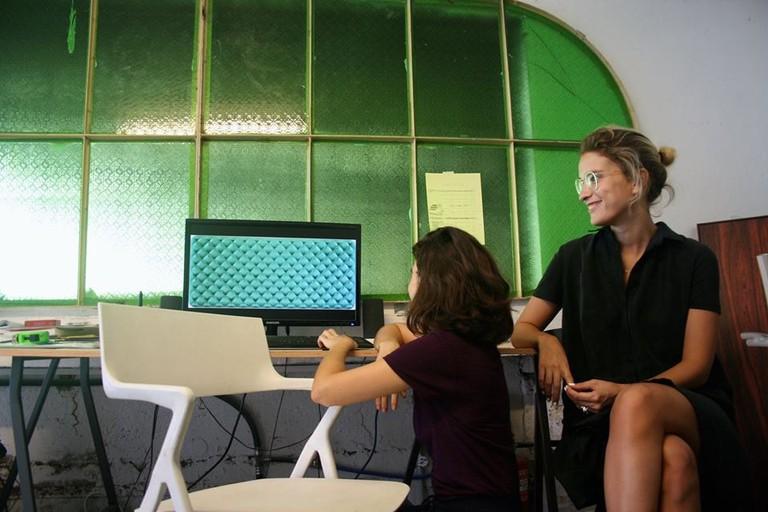 Adi Fluman in her studio