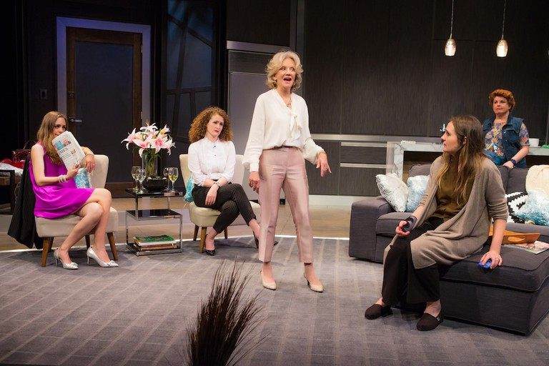 Allison Jean White, Brenda Meaney, Hayley Mills, Gina Costigan, and Klea Blackhurst in PARTY FACE at City Center Stage II - Photo by Jeremy Daniel