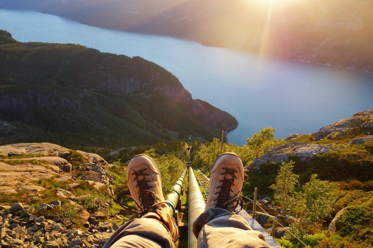 At the top of the world | Flørli 4444 Kafé & Hostel