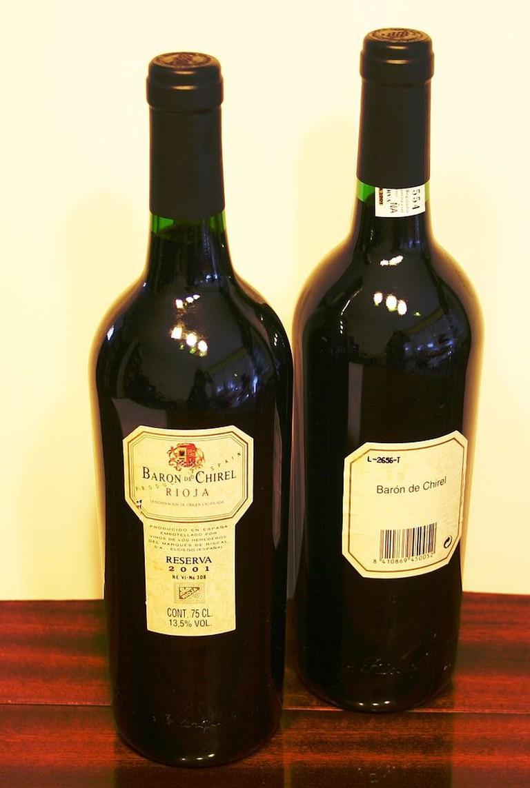 Baron de Chirel wine, La Rioja