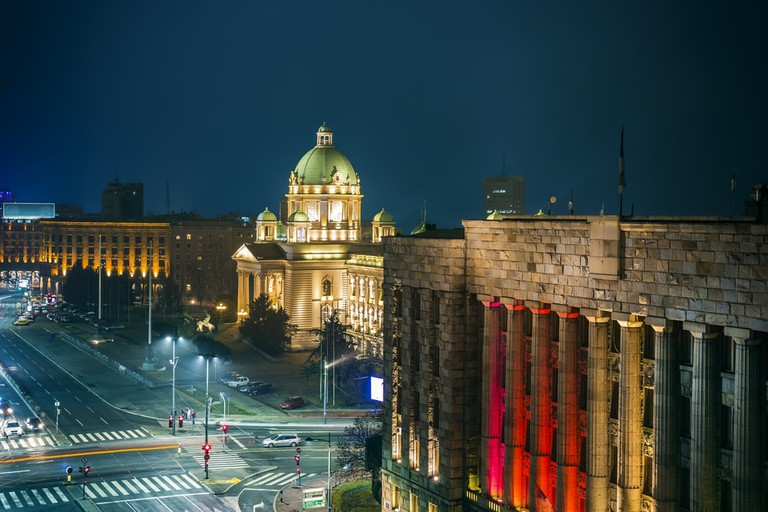 Belgrade comes alive at night