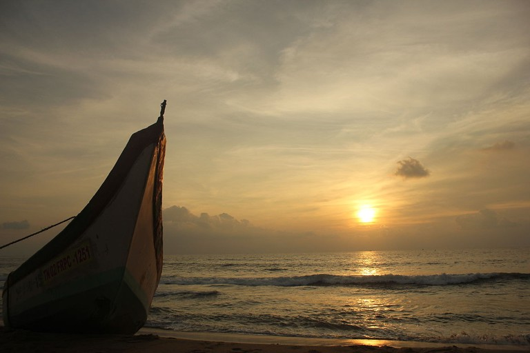 Sunrise at Besant Nagar Beach in Chennai