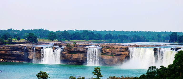 A landscape view of the Chitrakote Falls