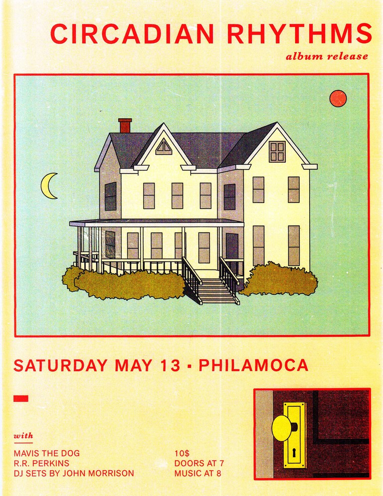 Poster for Circadian Rhythms' record release show