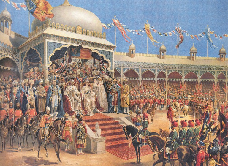 A painting of the Delhi Durbar