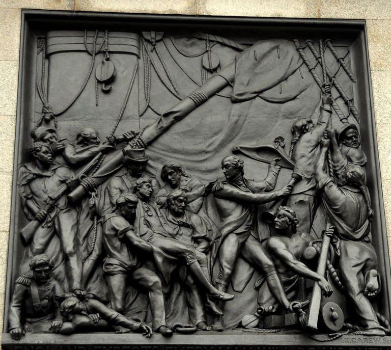 Death of Nelson at Trafalgar relief