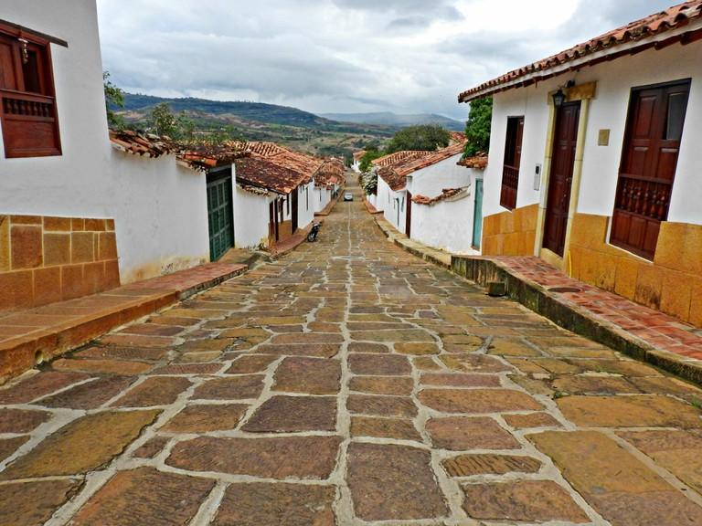 Barichara's cobbled streets