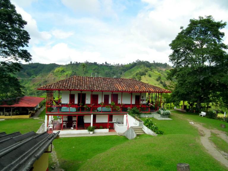 The lovely main house at El Ocaso