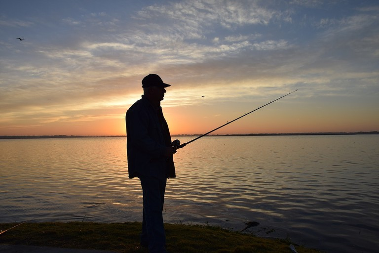 A man fishing in Florida