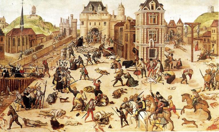 An artists depiction of the St. Bartholomew's Day massacre