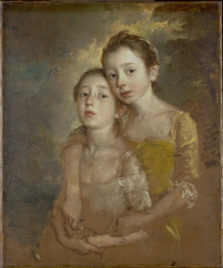 Thomas Gainsborough, 'Painter's Daughters with a Cat', c.1760–1761