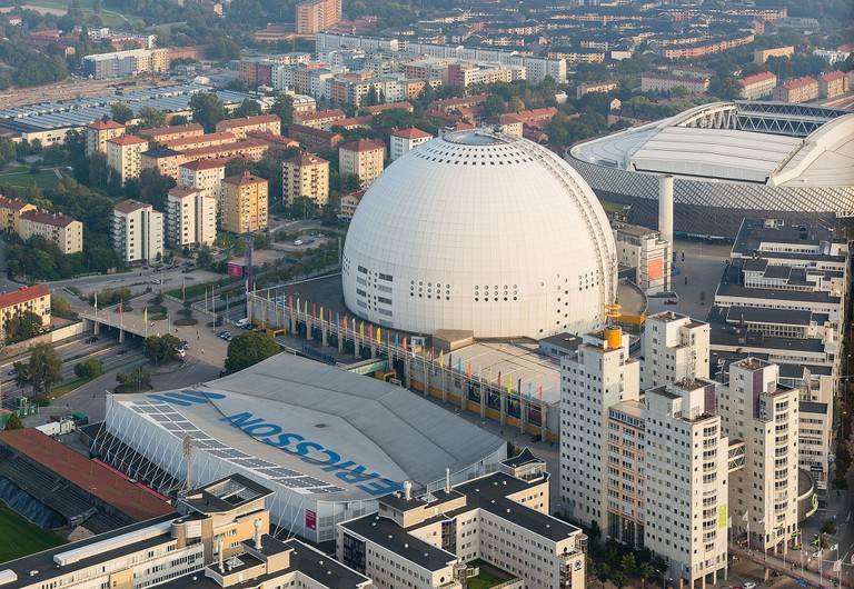 Globen is worth seeing from a distance, rather than from on top
