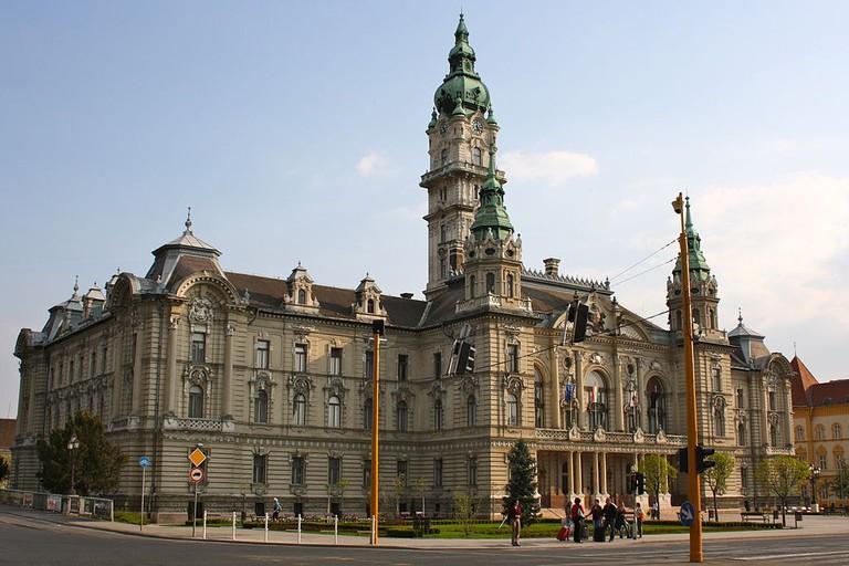Győr City Hall in Hungary