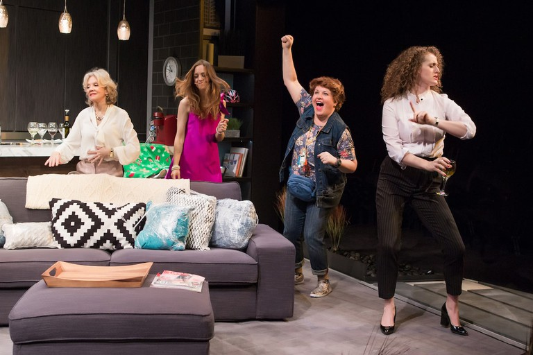 Hayley Mills, Allison Jean White, Klea Blackhurst, and Brenda Meaney in PARTY FACE at City Center Stage II - Photo by Jeremy Daniel
